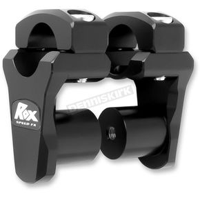 Black Anodized Dual Sport 1 3/4 in. Pivoting Handlebar Risers for 1 1/8 in. Bar Clamps - 3R-P2PPLK
