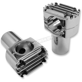 NYC Choppers Chrome Tall Grooved Handlebar Risers - NYC-404CH