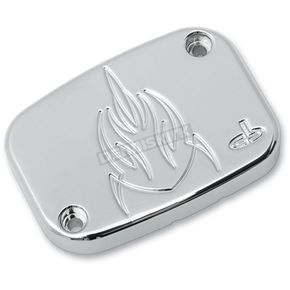 Carl Brouhard Designs Chrome Lefty Handlebar Master Cylinder Cover - LF-0007-C
