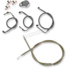 LA Choppers Throttle-by-Wire Handlebar Cable and Brake Line Kit for Use w/18 in. - 20 in. Ape Hangers - LA-8010KT-19