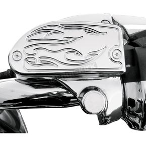 Baron Custom Accessories Chrome Flame Front Master Cylinder Covers - BA-762-903