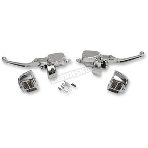 Drag Specialties Chrome Handlebar Control Kit with Hydraulic Clutch - 0610-0693