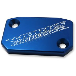 Works Connection Blue Anodized Clutch Reservoir Cover - 21-070