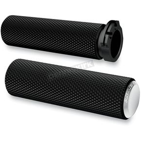 Chrome Knurled Fusion Grips - 07-326