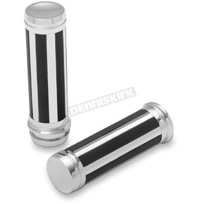 Drag Specialties Chrome Razor Grips - 0630-1138