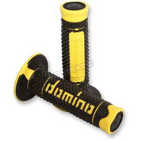 G2 Ergonomics Black/Yellow Domino Diamonte Grips - A26041C4740