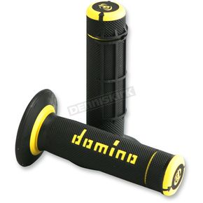 G2 Ergonomics Black/Yellow Domino Dually Grips - A02041C4740