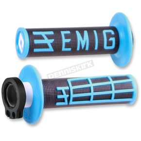 ODI Black/Blue Emig V2 Lock-On Grips - H32EMBU
