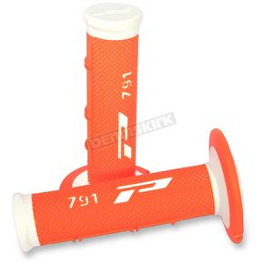 Pro Grip White/Fluorescent Orange 791 Triple Density Grips - 791WHFLOR