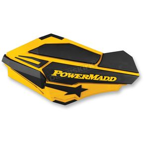 PowerMadd Ski Doo Yellow/Black Sentinel Handguards - 34401
