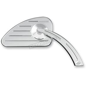 Pro-One Chrome Right Ball-Milled Mirror w/Ball-Milled Stem - 102570