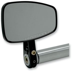 Joker Machine Black Cafe Style Bar End Mirror w/Straight Stem - 09-314-DB