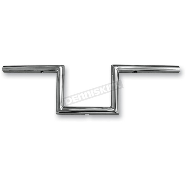 Chrome 6 in. Narrow Z Old School 1 in. Handlebar - LA-7380-06