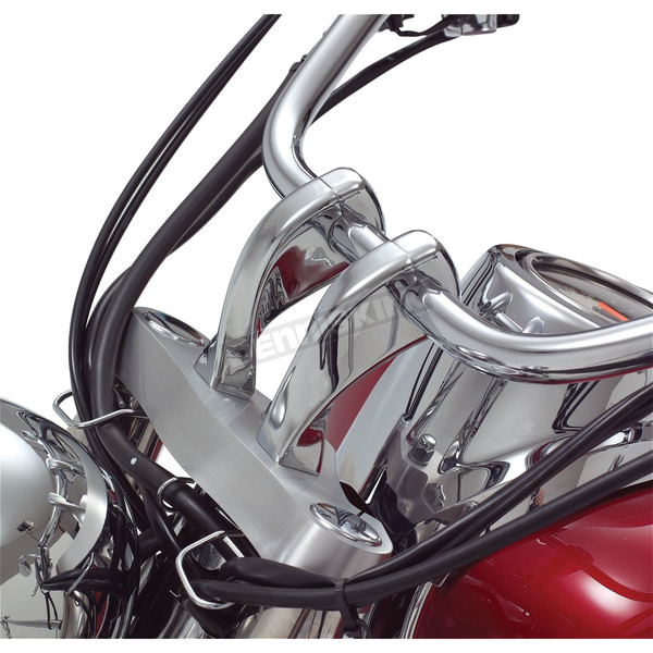Show Chrome Accessories Twisted 4 in. Handlebar Risers - 55-335X