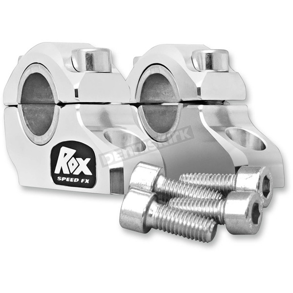 ROX Speed FX Clear Anodized 1 1/4 in. Pro-Offset Elite Block Risers for 7/8 in.-1 in. Handlebars - 3R-B12POE