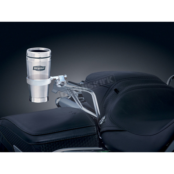 Kuryakyn Passenger Drink Holder w/Stainless Steel Mug  - 1485