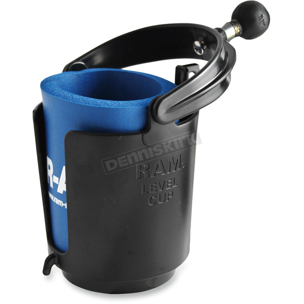 Ram Mounts Self-Leveling Cup Holder with 1 in. Ball and Cozy - RAM-B-132BU