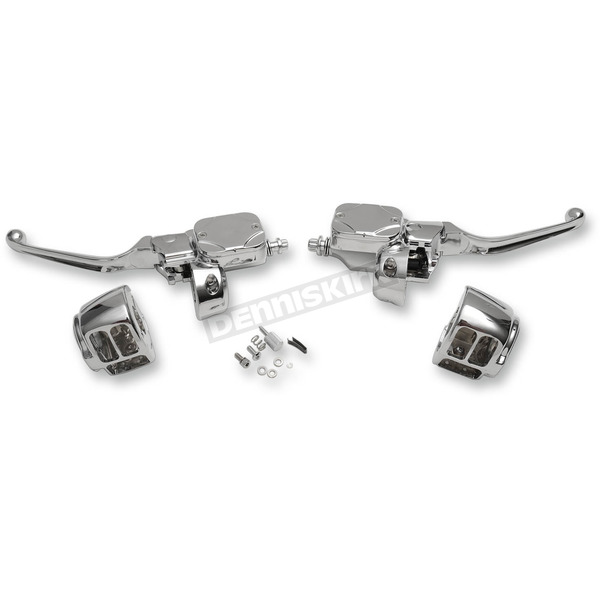 Drag Specialties Chrome Handlebar Control Kit with Hydraulic Clutch - 0610-0694