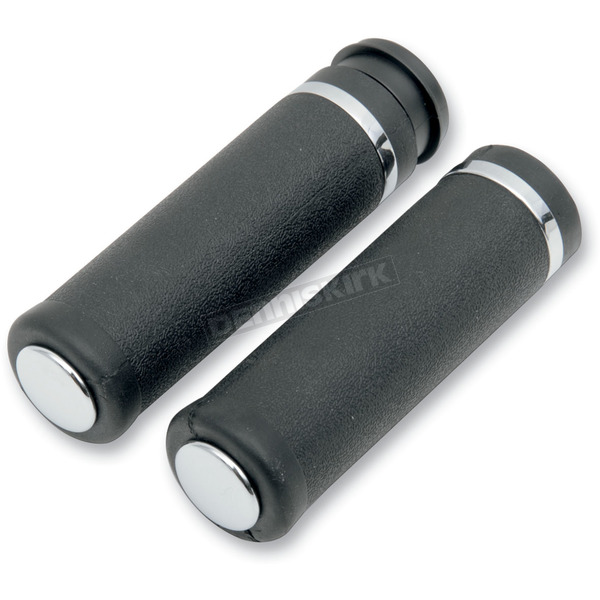 Drag Specialties Rubber Grips with Smooth End Caps - 0630-0747
