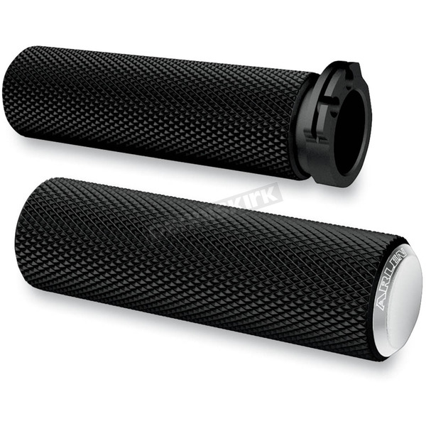 Arlen Ness Chrome Knurled Fusion Grips - 07-326