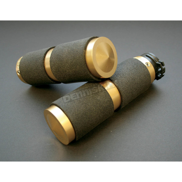 Accutronix Brass Rubber Inlay Grips - GR100-R5
