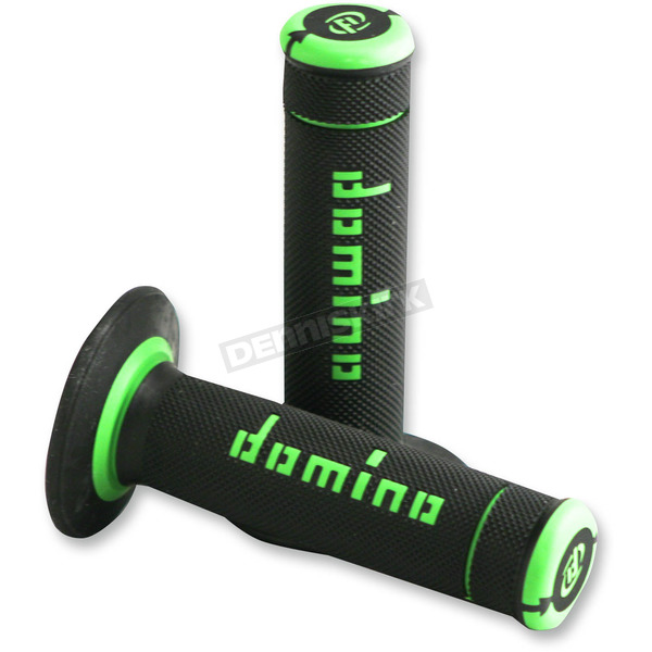 Black/Green Domino Xtreme Grips - A19041C4440