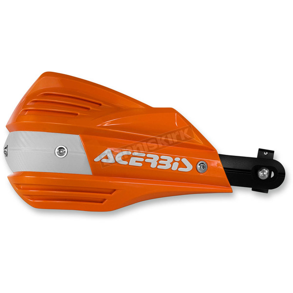 Acerbis Orange/White X-Factor Handguards - 2374191362