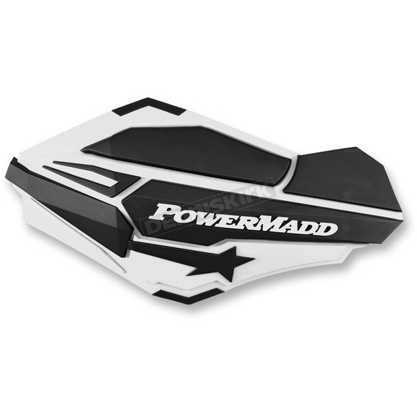 PowerMadd White/Black Sentinel Handguards - 34408