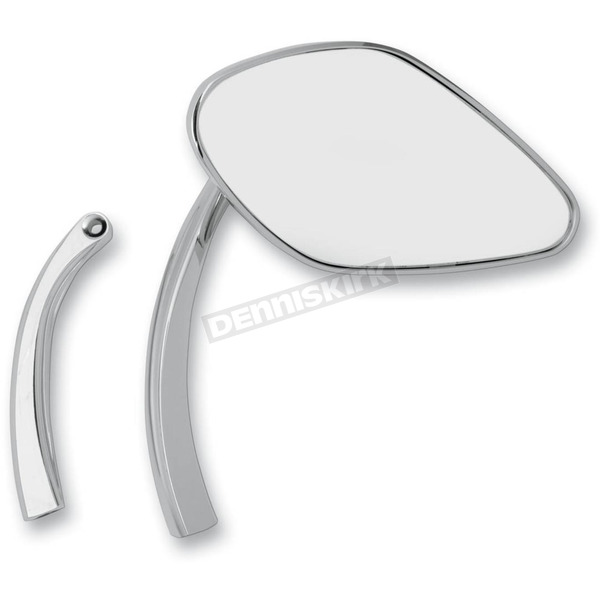 Drag Specialties Smooth Mirrors w/3 1/2 in. Radius Stems - 0640-0631