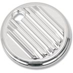 Chrome Finned Fuel Door Cover - C1127-C