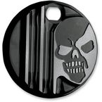 Gloss Black Machine Head Fuel Door Cover - C1128-B