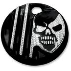 Black w/Diamond Edge Machine Head Fuel Door Cover - C1128-D