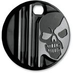 Gloss Black Machine Head Fuel Door Cover - C1129-B