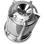 Chrome Beveled Re-Usable Oil Filter - 03-462