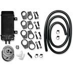 WideLine Black 10-Row Vertical Frame-Mount Oil Cooler Kit  - 750-2000