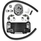 Black 10-Row Horizontal Low-Mount Oil Cooler  - 750-2400