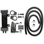 Black/Billet Aluminum 6-Row Vertical Frame-Mount Oil Cooler Kit  - 760-1000