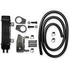 Black 6-Row Vertical Frame-Mount Oil Cooler Kit  - 760-1200