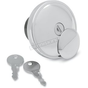 Chrome Vented Screw-In Locking Gas Cap - 0703-0230
