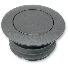 Drag Specialties Black Wrinkle Vented Pop-Up Gas Cap - 0703-0324