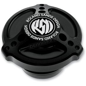 Roland Sands Design Black Ops Tracker Billet Aluminum Gas Cap - 0210-2007-SMB