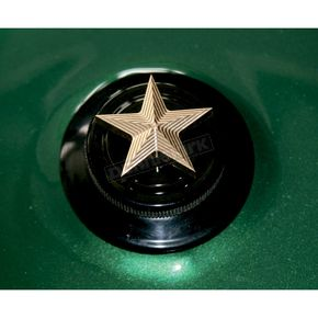 NYC Choppers Brass Nautical Star Spinner Gas Cap - NSOEMBRASS