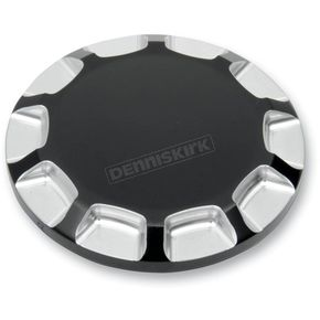 Drag Specialties Gloss Black Non-Vented Straight-Cut Gas Cap - 0703-0391