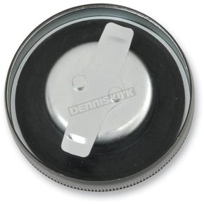Drag Specialties Gloss Black Non-Vented Panhead Gas Cap - 0703-0548