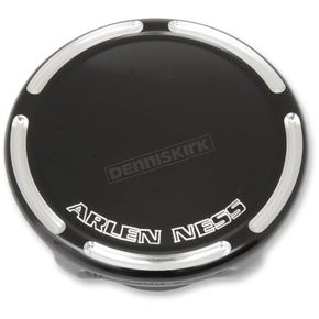 Arlen Ness Black Slot Track Non-Vented Gas Cap - 70-014