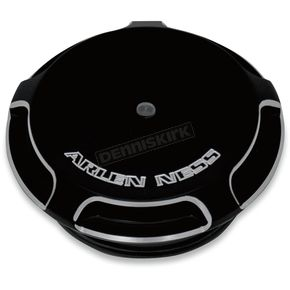 Arlen Ness Black Beveled Gauge Gas Cap - 70-300