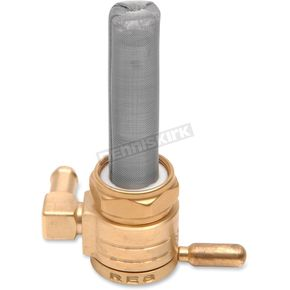 Click-Slick Backward Facing Round Raw Brass Petcock - 22mm - 76-312B-BS