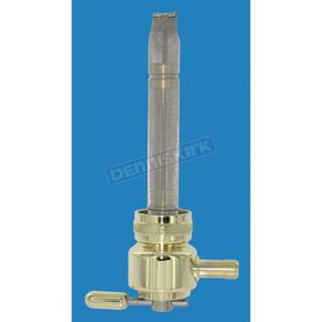 Pingel Old School Brass Power-Flo Fuel Valves-Inward Facing 180 degree 22mm Round - 6311-BR