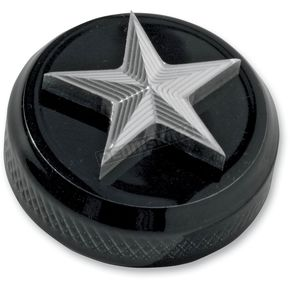 NYC Choppers Nautical Star Oil Tank Plug - FLH-NS-BK-P