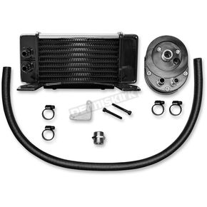 Jagg Chrome 10-Row Horizontal Low-Mount Oil Cooler  - 750-2380
